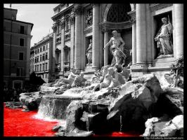 Trevi's red water by Chatterly