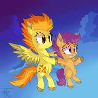 Spitfire And Scoots by wildberry-poptart