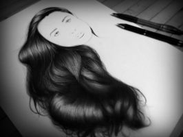 Hair Study - Complete by RickDouglasArt