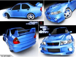 Mitsubishi Evolution 6 by artist-tortured