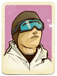 Snowboarder Boy vintage by LinaLightning