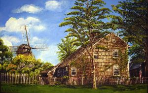 """Home Sweet Home"". And the Old Windmill. by David-J-Addante"