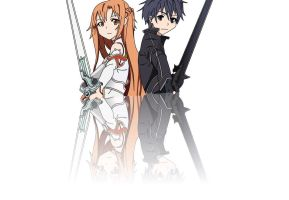 Kirito and Asuna by Snowfairy007