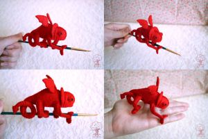 Mini Devilmeleon 4 Views by quirkandbramble