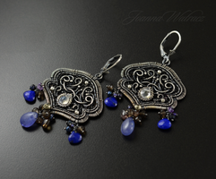 Before the rain - Earrings - Handmade by JoannaWatracz