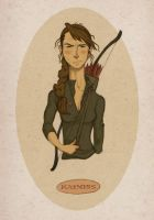 Katniss by hooraylorraine