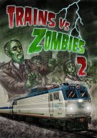 Trains Vs Zombies 2 by Hungrysparrow