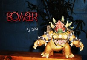 Bowser Papercraft by toFear13