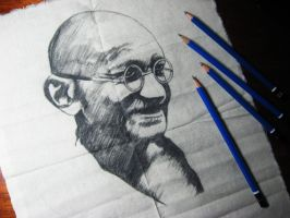 Mahatma Gandhi by Finihous