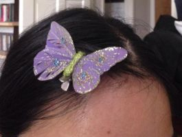 A butterfly hair clip by Prince5s