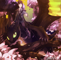 Hiccup and Toothless by indui