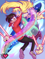 The  Magical World of Star vs. TFOE by ladypixelheart
