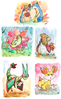 Pokemons and more Pokemons by jawazcript