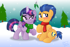 Twi and Flash under Mistletoe by AleximusPrime