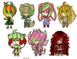 Chibi Fruit Adoptables - Closed by MongooseApples