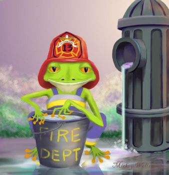 Riley the Fire Fighter by WilderRose