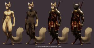 Knight Cat 1-4 by davi-escorsin
