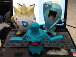 pokemon paperrcaft by margarethere