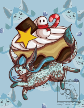 [Fanart] Glaceon Puff by WhiskyWhisker