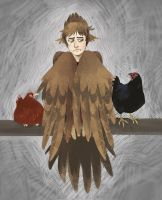 me as harpy and my chickens as chickens by Kethavel