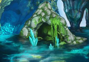 Water dragon's cave by Kejlynda