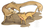 Shiny Gold Fur (Sohl and Cheris Interaction) by KristinTree