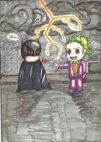 Batman and The Joker by JLafleurArt