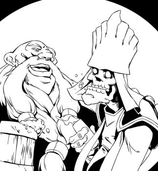 gragas and karthus by Potem1917
