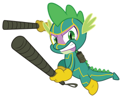 [MLP Commission] Spike Kick-Ass by Luke262