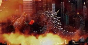 Gamera vs. Godzilla Wallpaper by WoGzilla by WoGzilla