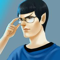 STAR TREK-Glass Spock by dosruby