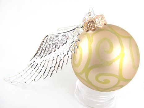 Golden Snitch Christmas Ornament by angelyques