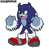 Sonic The Werehog-Colored by KAIJUfreak