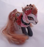 My little pony custom Dia de muertos Foxy by AmbarJulieta