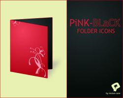 PiNK-BLaCK Folder Icons by Recion-core