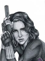 Black Widow Drawing by JGiampietro