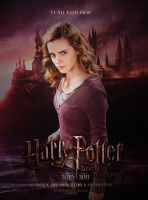 Fan poster HP 7 Hermione 2 by amidsummernights