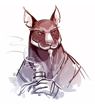 Master Splinter sketch by lorna-ka