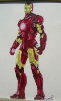 Iron Man watercolor by PirateCaptainJess