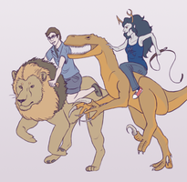 Lions and Raptors and Bros, Oh My by Elliekin