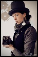 Steampunk selfportrait by absinthalicious