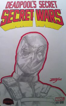 Deadpool's Secret Secret Wars Sketch Cover by RichardZajac