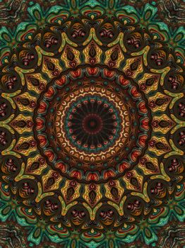 Trippy Fractal Kaleidoscope by Kaleiope-Studio