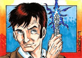 The Tenth Doctor Sketchcard by ElfSong-Mat