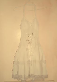 The Vintage White Dress by teribi-chan