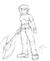 mistress of t3h axe pencil by turnsky