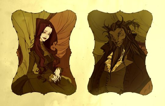 Beauty And The Beast (portraits) by AbigailLarson