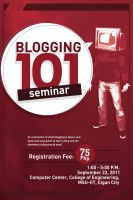 blogging 101 poster by capiogwapo