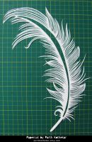 Papercut Art #27 - Feather by ParthKothekar