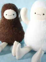 sasquatch and yeti by sewingstars
